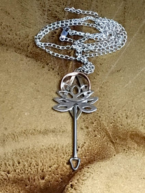 Lotus Key Necklace