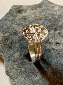 Textured Bowl Ring