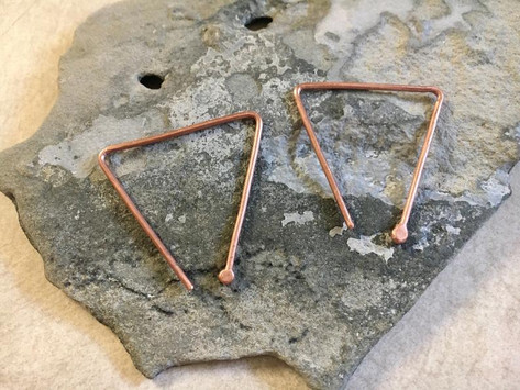 Copper Edge Earrings