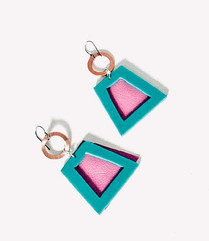 Hide & Go Pink Earrings