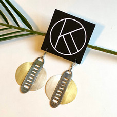 Zipped Up Recycled Earrings