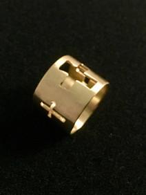 Gold Crosses Ring