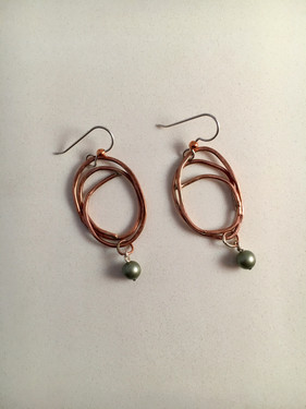 Whorled Pearl Earrings