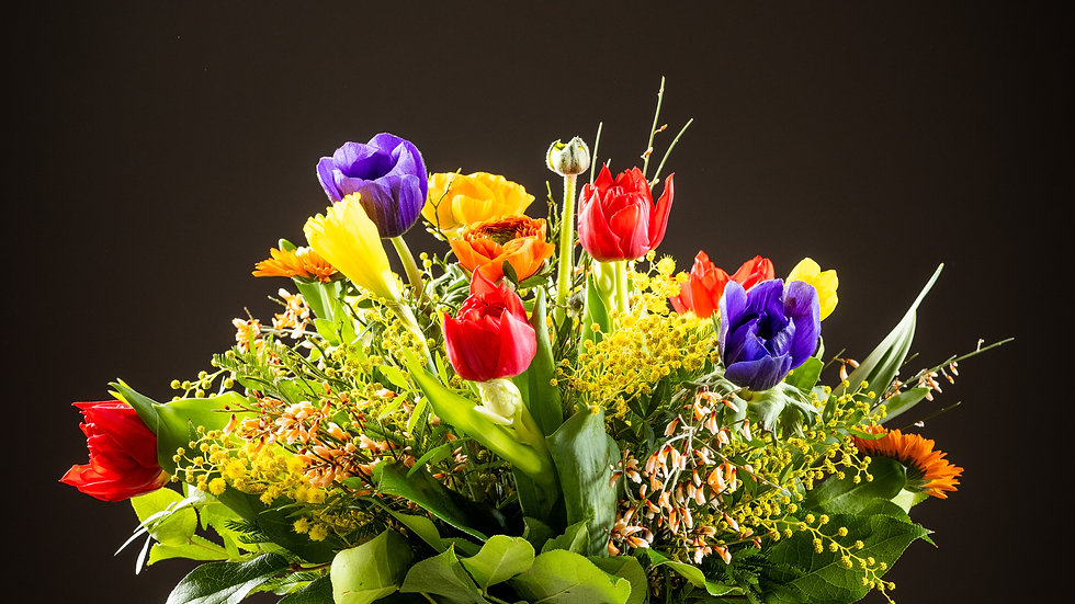 S1 - Frühlingsblumenstrauss bunt