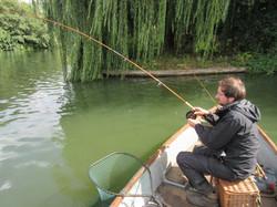 Fishing in Pangbourne weirpool