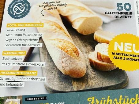 """""""Gluten Free"""" empfiehlt in Ausgabe 15 Februar/März 2021 mein Kochbuch: Meine Familienküche ohne HIT"""
