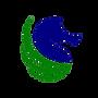 LOGO 1 HIPPOCAMPE BLEU feuilles vertesav