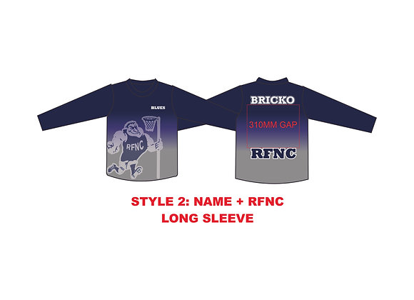 RFNC TRAINING TEE #STYLE 2 - LONG SLEEVE