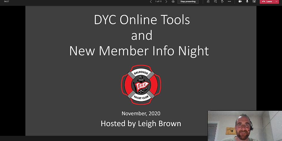 DYC Online Tools and New Member Night