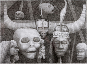 Dead Heads, 2007, pen and ink