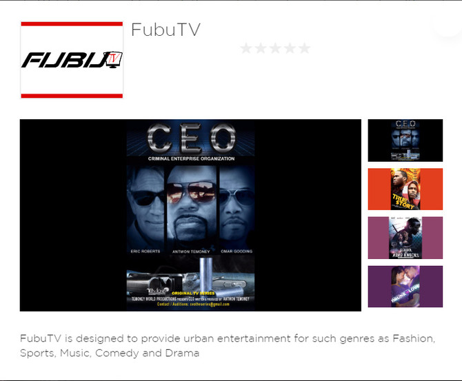 Fubu TV Now on Roku