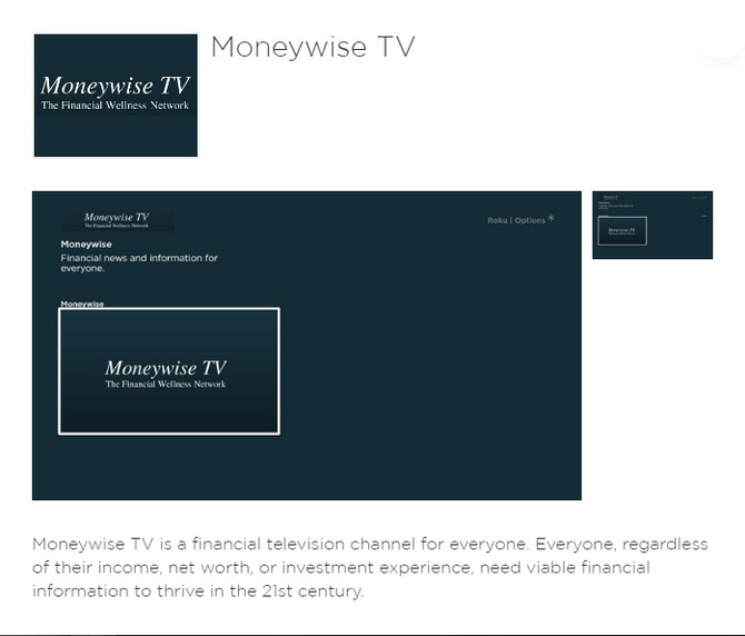 Moneywise TV Now on Roku