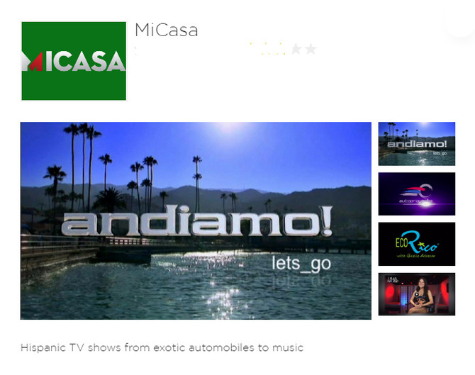 MiCasa Now on Roku