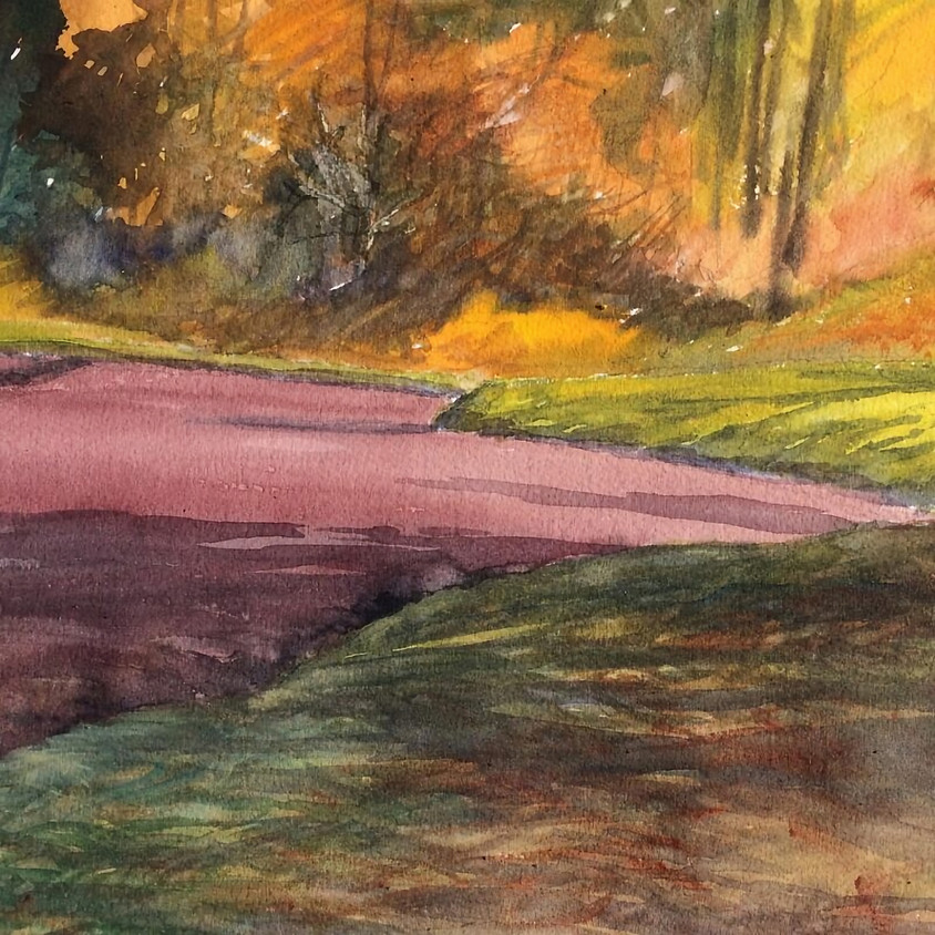 PLEIN AIR WATERCOLOR with Mary A. Smith, 2 Days: July 15 & 16, 9 am- 4 pm