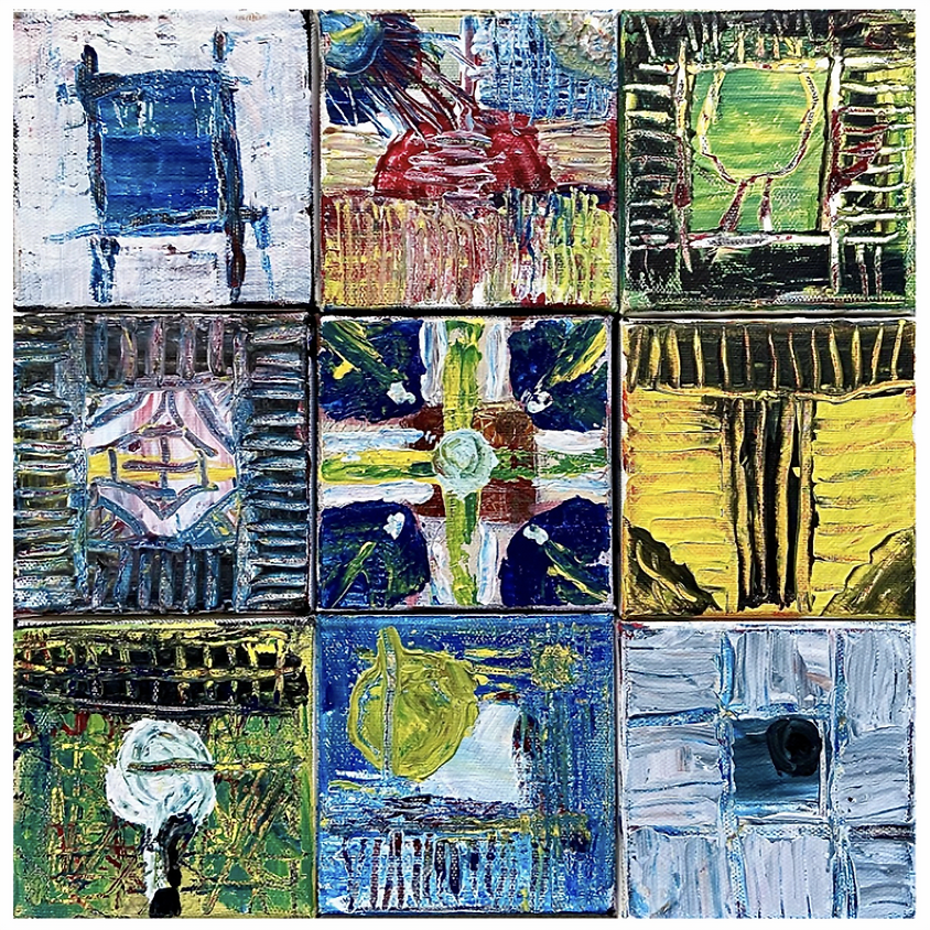 9 Square: Acrylic Painting with Michael Giaquinto / Ages 9 & up