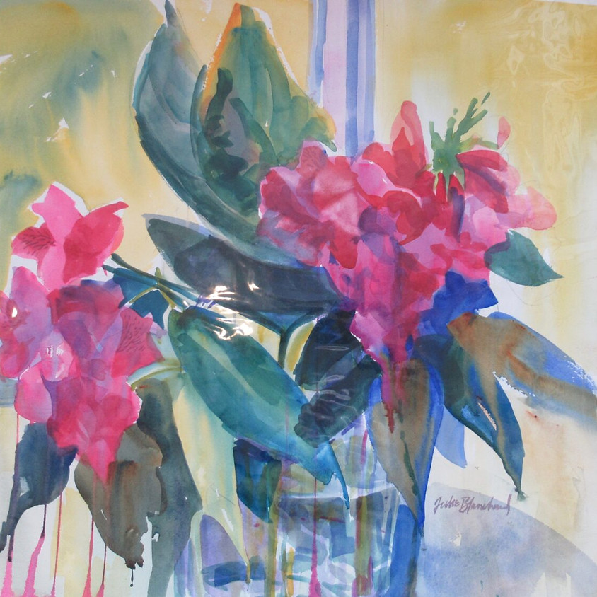 Watercolor with Julie Blanchard - online with Zoom