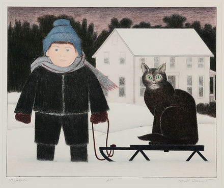 Will Barnet, The Sled AP, c. 1984, Gifte