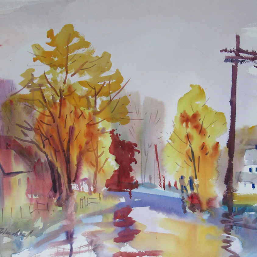 Watercolor with Julie Blanchard - online with Zoom, May 21 - June 25, 9:30-12:30