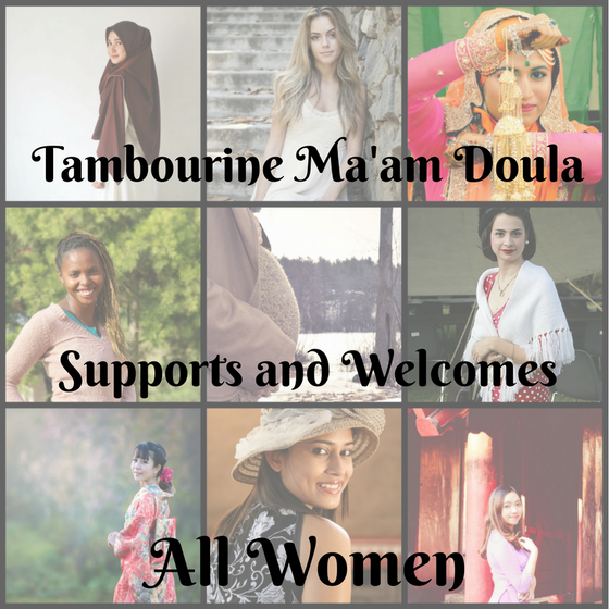 Tambourine Ma'am Doula Supports all Women.