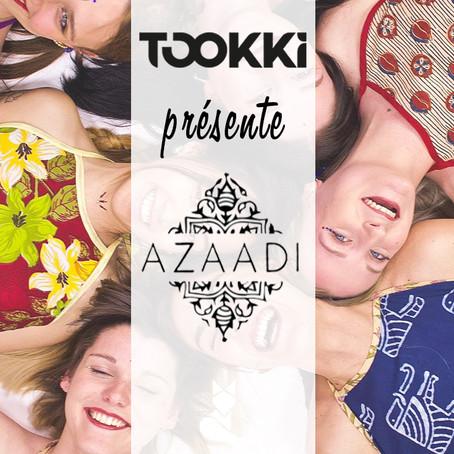 Découvrez AZAADI, nouveau partenaire Tookki !