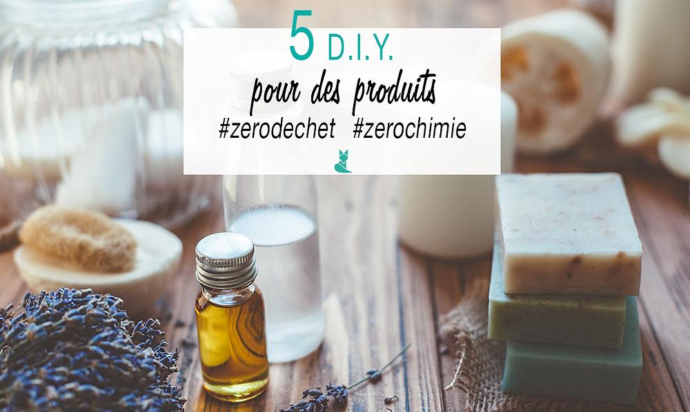 cinq diy produits homemade zero dechet ecologie tookki