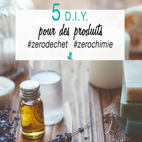 5 DIY pour des produits zéro chimie et zéro déchet !