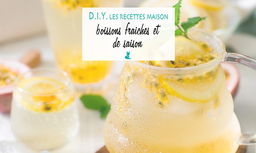 recette boissons fraiches de saison diy canicule