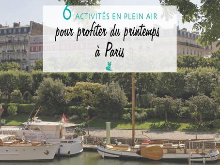 6 activités en plein air, pour profiter du printemps à Paris ☀️
