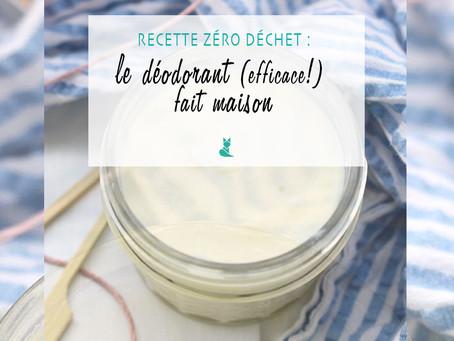 Recette zéro déchet : le déodorant (efficace!) fait maison.