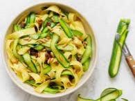 tagliatelles courgettes pates ete recette basilic