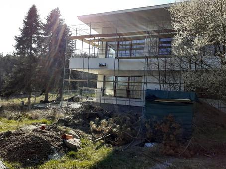 Rekonstrukce prezidentské vily na Vystrkově pokračuje a začínáme hledat budoucího nájemce