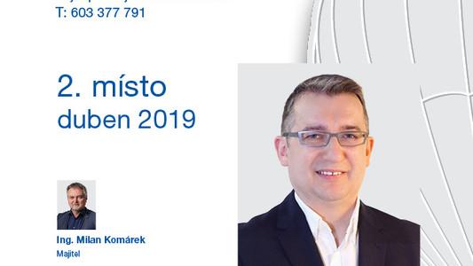 Realitní makléř měsíce - druhé místo duben 2019