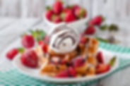 belgium-waffles-with-strawberries-and-ic