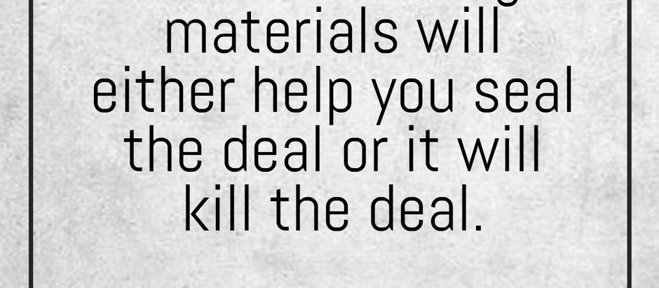 Your Marketing Materials...