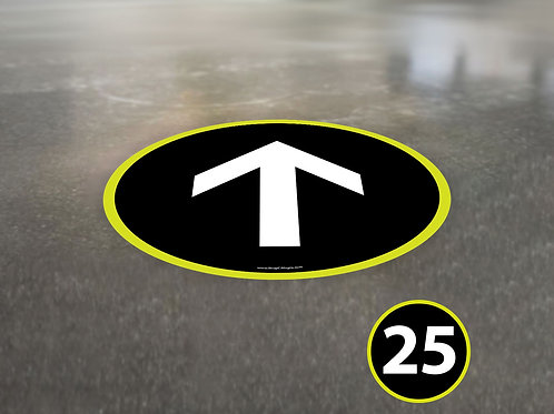 (25 Pack) Directional Arrow Circle - Floor Graphic