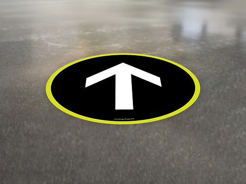 Directional Arrow Circle - Floor Graphic