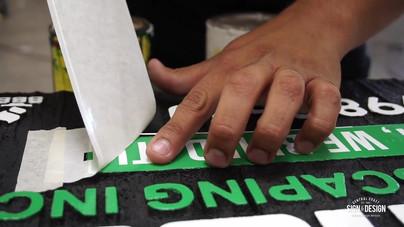 Sandblasted Sign Process