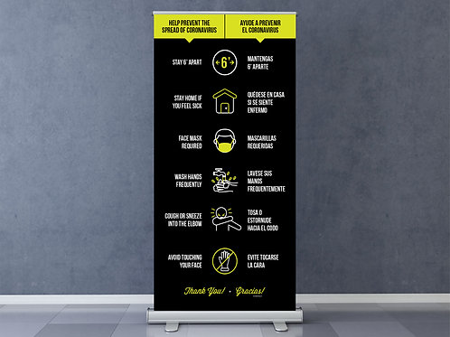 Safety Guidelines - Retractable Banner Stand