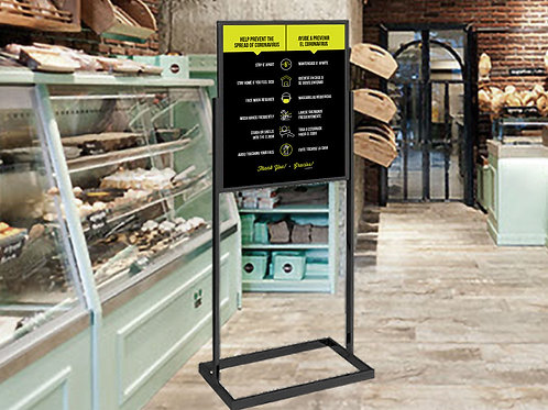 Bilingual Safety Guidelines - Large Floor Standing Sign
