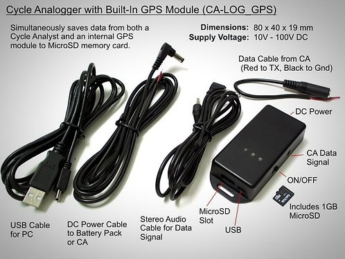 Cycle analyst logger with intern GPS module