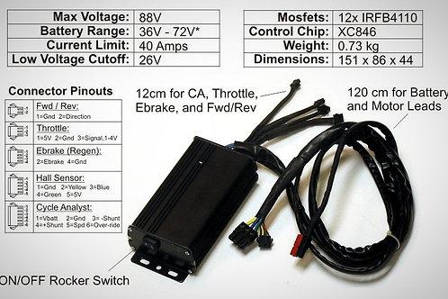 GRIN Controlador - Crystalyte 24V-36V-48V-64V-72V  40A