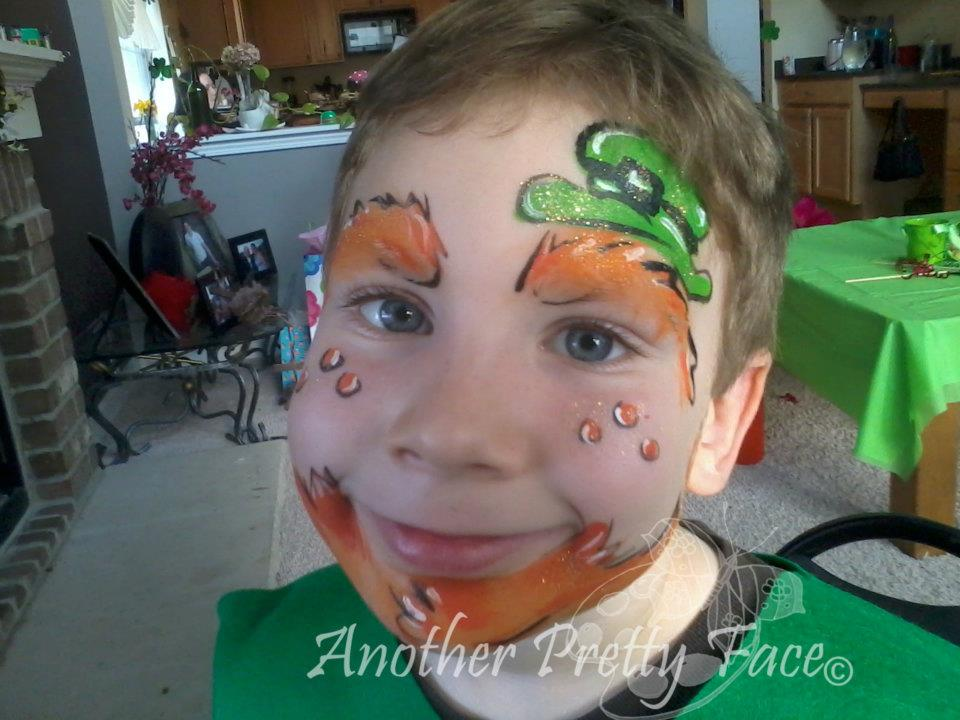 Leprechaun face paint