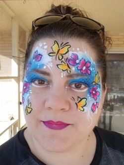 Bright and colorful spring face