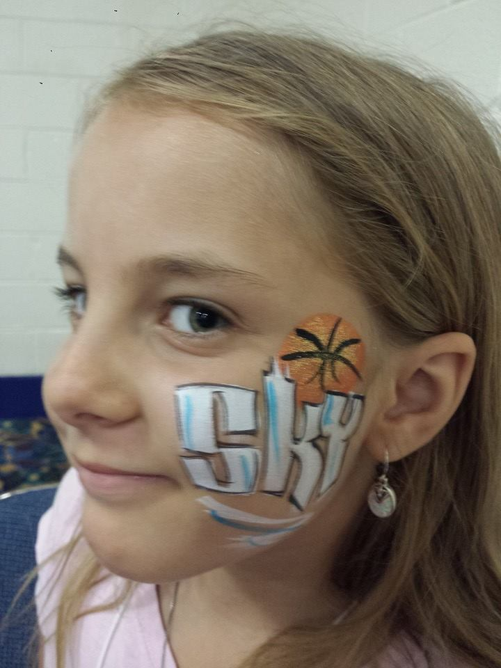 Chicago Sky (WNBA) face paint