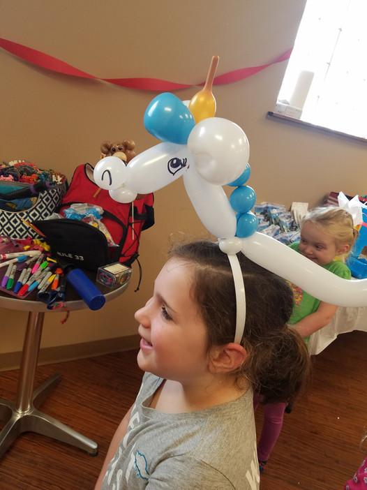 Wearable Unicorn balloon hat