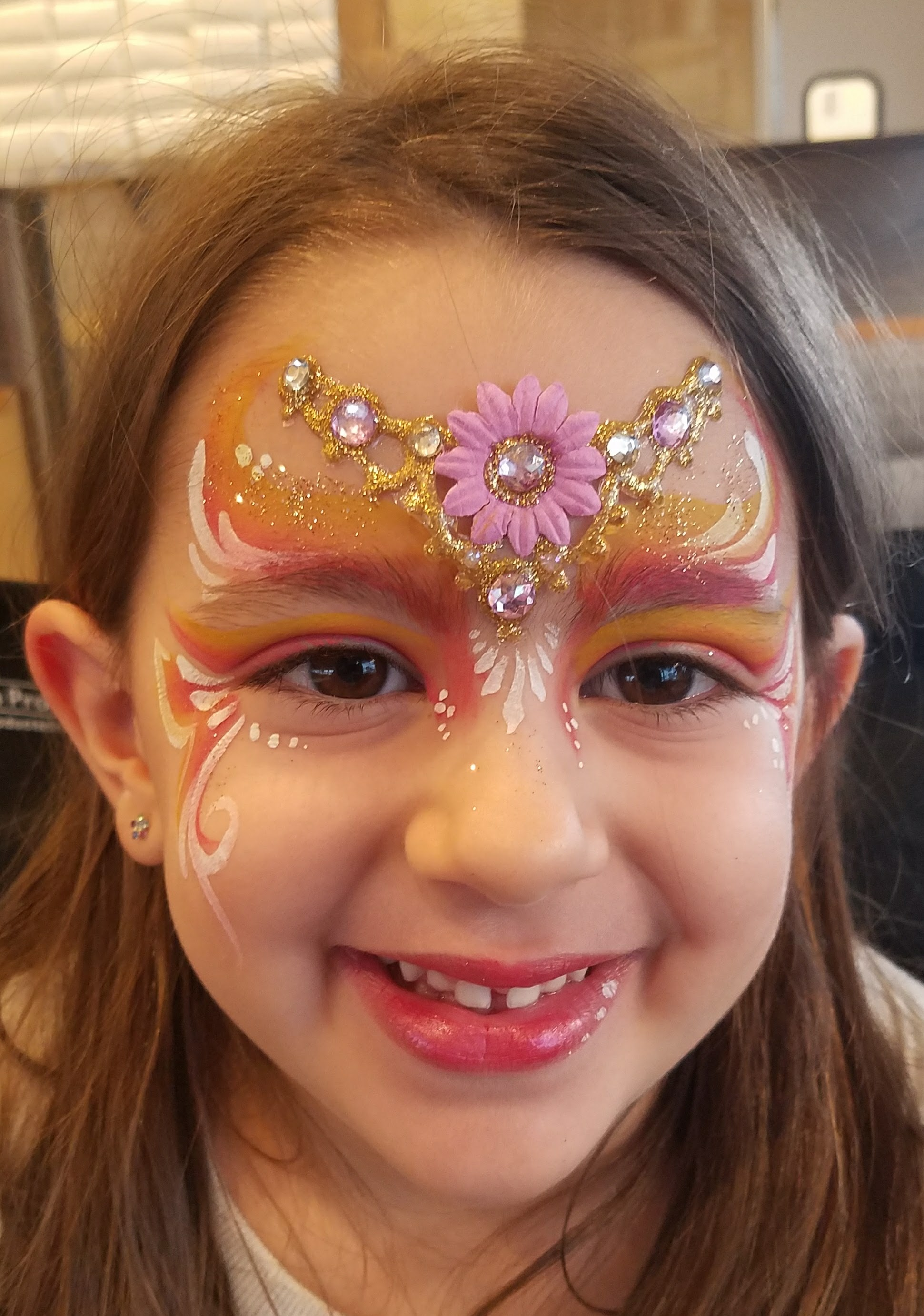 Springtime princess face paint