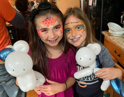 Balloon and face paint buddies