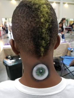 Eyeball temporary tattoo
