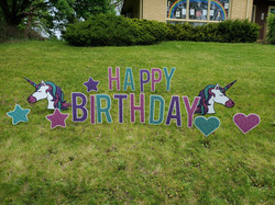 unicorn sparkle yard signs