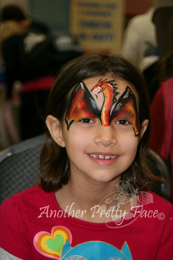 Winged Dragon face paint mask